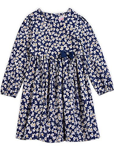Bonny Billy Girls Long Sleeve Daisy Print Children Skater Dress 3-4Y Daisy