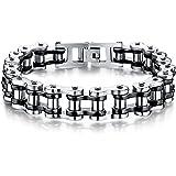 Feraco Biker Bracelet Mens Stainless Steel Motorcycle Bike Chain Wristband Bracelets,8.4 Inch