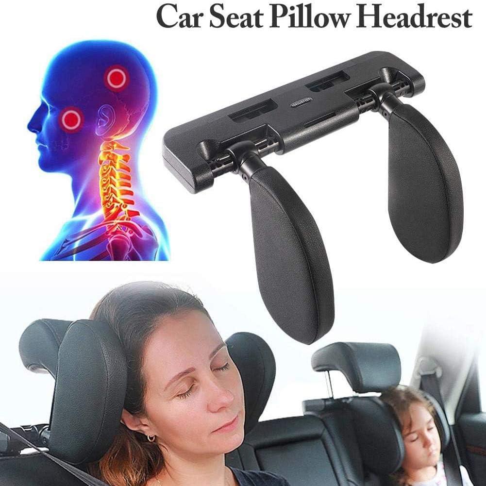 Zidao Car Seat Headrest Pillow Headrest for Car Head Neck Support Removable Neck Support Travel Sleeping Pillow,1