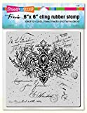 Stampendous 6CR006 Cling Stamp, Ornate Scroll