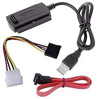 HechoVinen USB 2.0 till SATA/IDE-adapter konverterarkabel för 2.5 3.5 hårddisk hårddisk kabel hårddisk adapterkabel