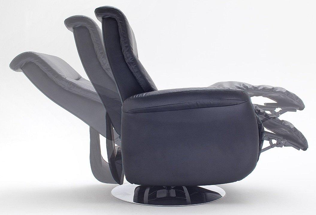 LIEFERUNG in die Wohnung - 5.5.4.2664: Fernsehsessel - TV-Liegesessel - Teilleder schwarz - Entspannungssessel