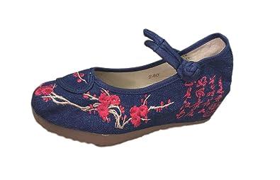Lazutom - Zapatillas para mujer, color rojo, talla 39 EU