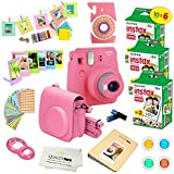 Fujifilm Instax Mini 9 Instant Camera FLAMINGO PINK w/Fujifilm Instax Mini 9 Instant Films (60 Pack) + A14 Pc Deluxe…
