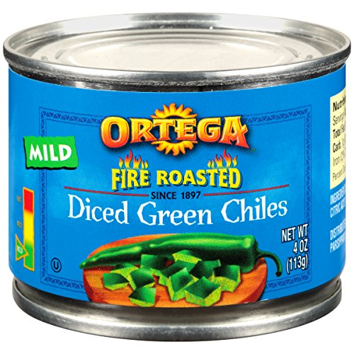 Ortega Diced Green Chiles, Mild, 4 oz (Pack of 12)
