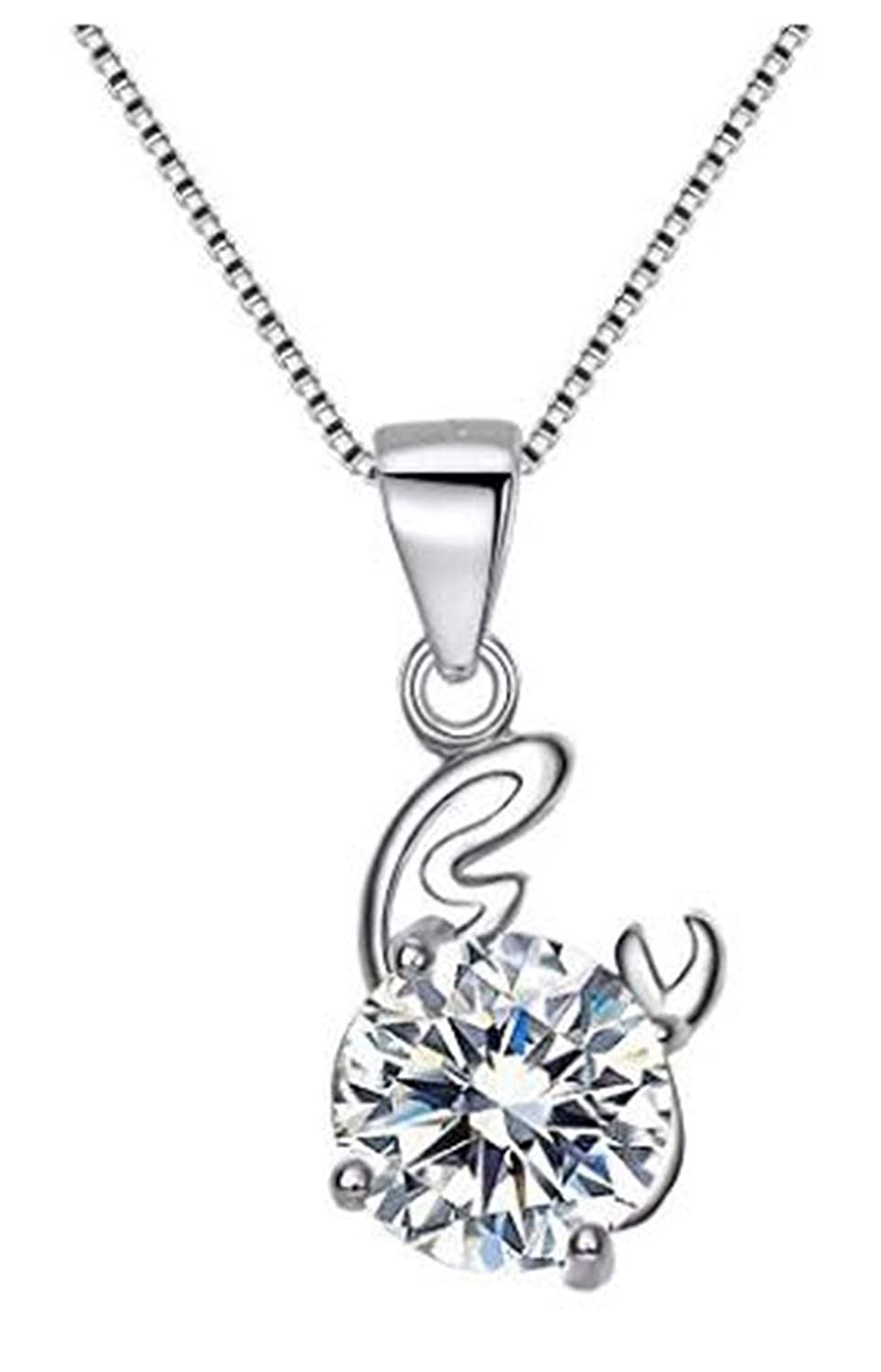 Horoscope,Constellation Necklaces Astrology Zodiac Griffs Jewelry 925 Sterling Silver Pendant