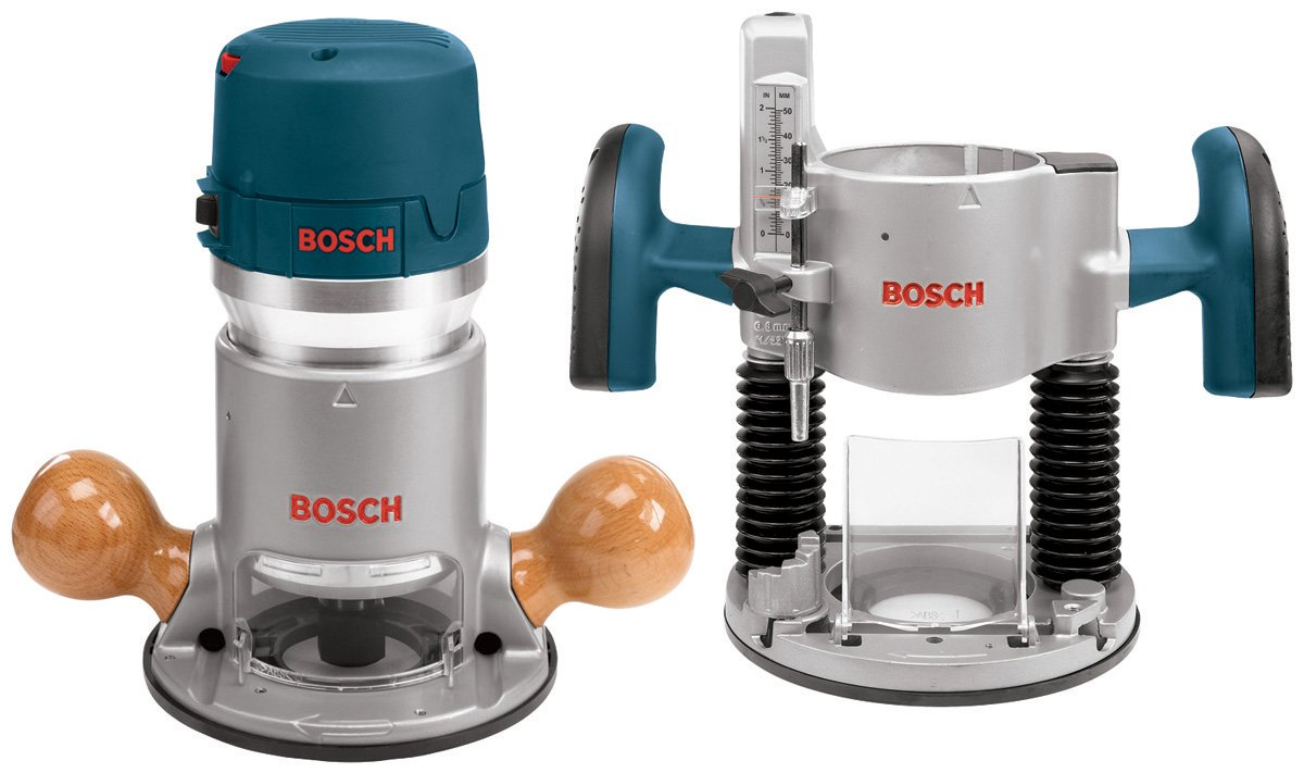 Bosch 1617EVSPK 12 Amp 2-1/4-Horsepower Plunge and Fixed Base Variable Speed Router Kit