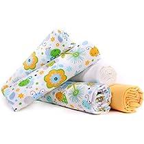 Lulando lulando 5906395189434 franela pañales pañales de tela, 100% algodón verde Abejas 5 Unidades 600 g: Amazon.es: Bebé