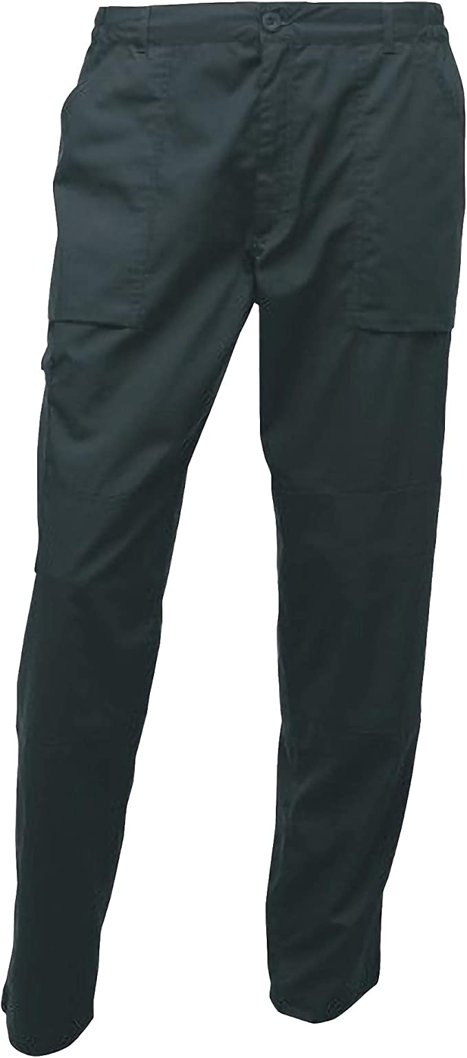 REGATTA LINED ACTION TROUSERS WORKWEAR DURABLE WATER REPELLENT MULTI POCKET REG