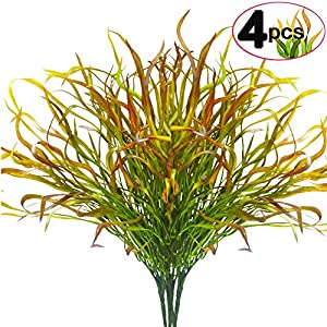 SLanC Artificial Fake Plants Faux Curly seaweed Branches Fake Fruits plastic Plants Branch Leaves ndoor Outside Home Garden Office Verandah Decor 37