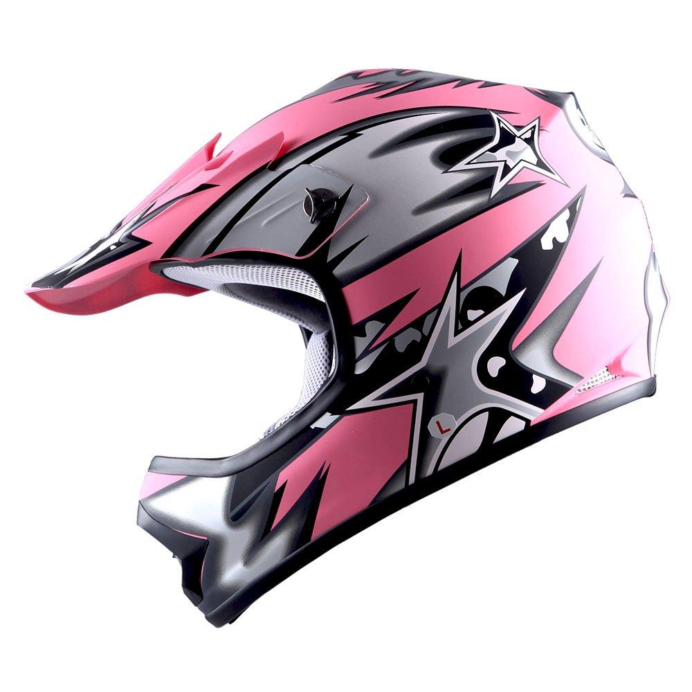 WOW Youth Kids Motocross BMX MX ATV Dirt Bike Helmet Star Matt Blue Power Gear Motorsports