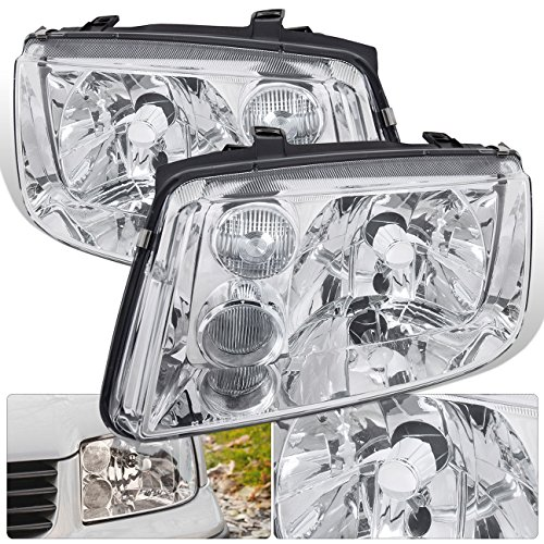For Vw Volkswagen Jetta Mk4 Mkiv Bora Euro Upgrade Replacement Front Bumper Chrome Housing Crystal Clear Lens W/Chrome Fog Lights Headlights Head -