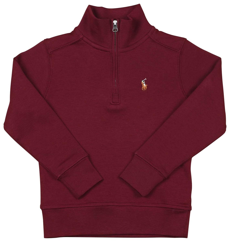 5-7 Polo RL Little Boys Half Zip Mock Neck Sweater