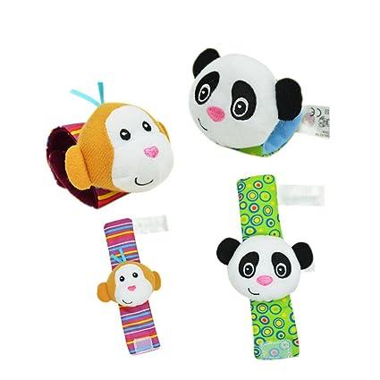 Espeedy 1 par Sozzy bebés dibujos animados animales sonajero juguetes muñeca  sonajero proteger bebé cuidado juguete cadf7bcc659