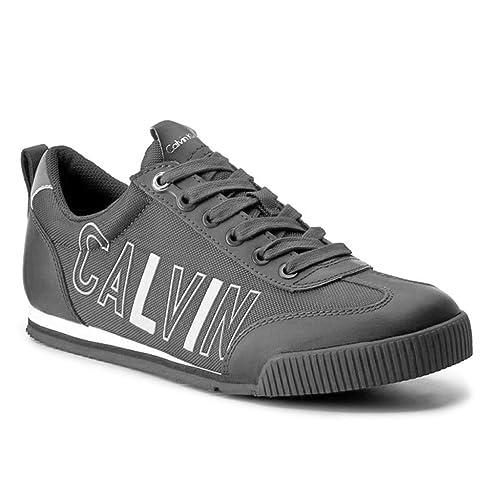 b74a42d38fe Calvin Klein Hombre Welby Smooth Nylon deportivas bajas Gris Size  39   Amazon.es  Zapatos y complementos