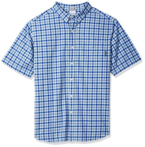 Columbia Mens Rapid Rivers Ii Big & Tall Short Sleeve Shirt, air Small Plaid, 3X