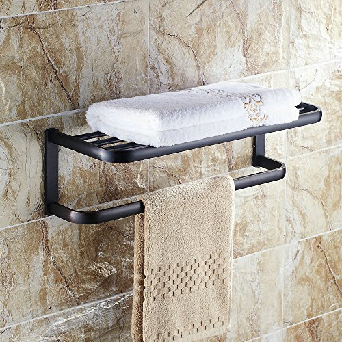 Solid Brass Towel Bar Wall Mounted Oil Rubbed Bronze Towel holder - 7