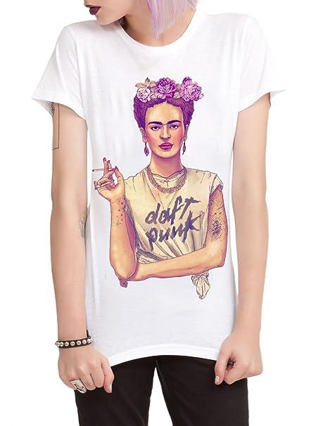 18966c73 Frida Kahlo Daft Punk Women Graphic Tee T-shirt (Small-UK8): Amazon ...