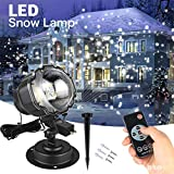 Womanloves Mini Snowfall Projector IP65 Moving Snow Outdoor Garden Laser Projector Lamp Christmas Snowflake Laser Light for Xmas Party