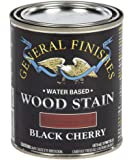 General Finishes Water Based Wood Stain, 1 Pint, Black Cherry