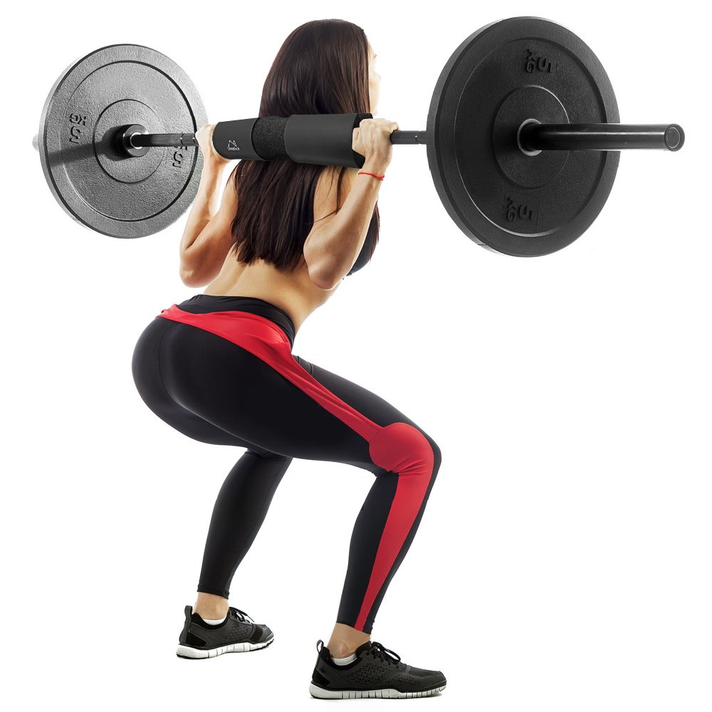 2 Stücke Olympic Barbell Bar Pad Squat Gewichtheben Gym Schulter Pull Up