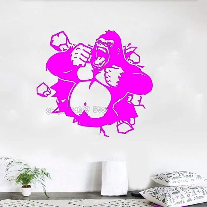 zqyjhkou 3D Animal Gorilla Decals King Kong Poster Wall Sticker ...