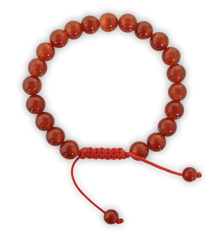 Tibetan Mala Carnelian Wrist Mala/bracelet for Meditation (Plain carnelian) Hands Of Tibet