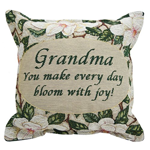 Jubilee Celebrations Grandma Pillow 12 x 12 - Magnolia Bloom - Grandmother Gift Made in -