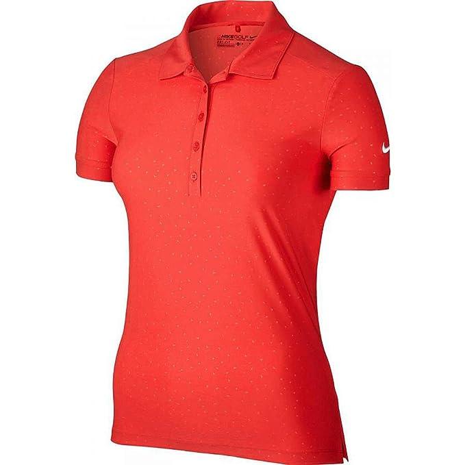 19b283dd Nike Women's Golf Dri-Fit Victory Emboss Polo Light Crimson 803049 696 ...