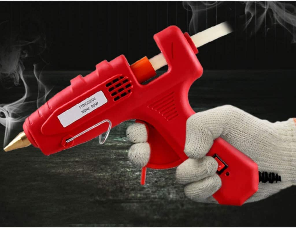 Hot Melt Glue Gun, Multi-function Hot Melt Glue Gun Fuser 20W60W80W100W Optional Red glue gun (Color : 80w) ZHNGHENG (Color : 100w) 80w