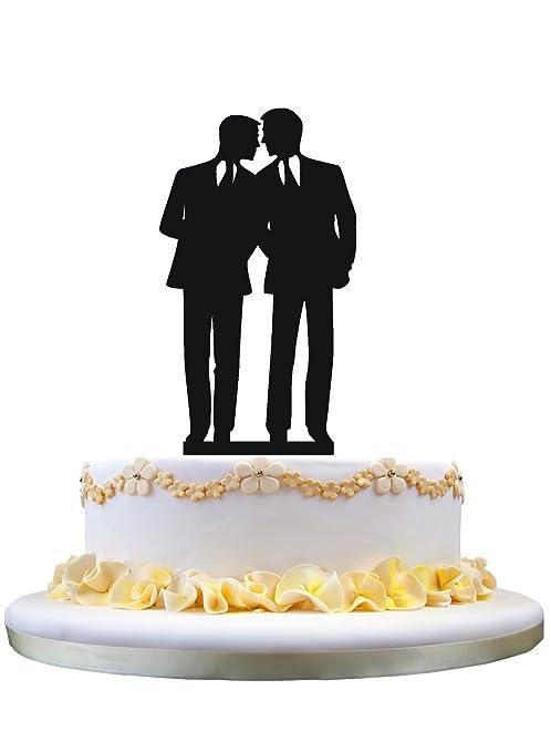 Amazon Com Gay Wedding Cake Topper Groom To Groom Cake Topper For