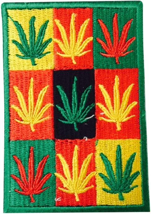 REAL EMPIRE Parche Bordado con la Bandera de Rastafari BobMarley ...