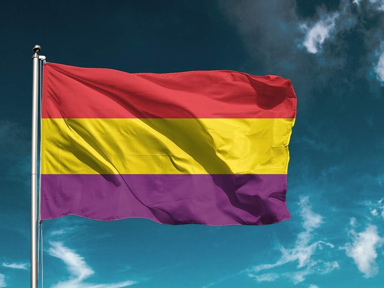 G | Bandera Segunda República Española | Bandera Países | Medidas 150cm x 85cm | Fácil colocación | Decoración Exteriores (1 Unidad): Amazon.es: Hogar