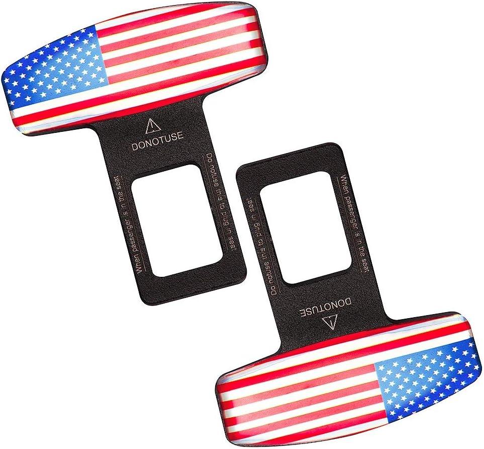 Car Seat Belt Clip, Universal Seat Belt Buckle Auto Metal Seat Belts Clip 2 Pack: Automotive