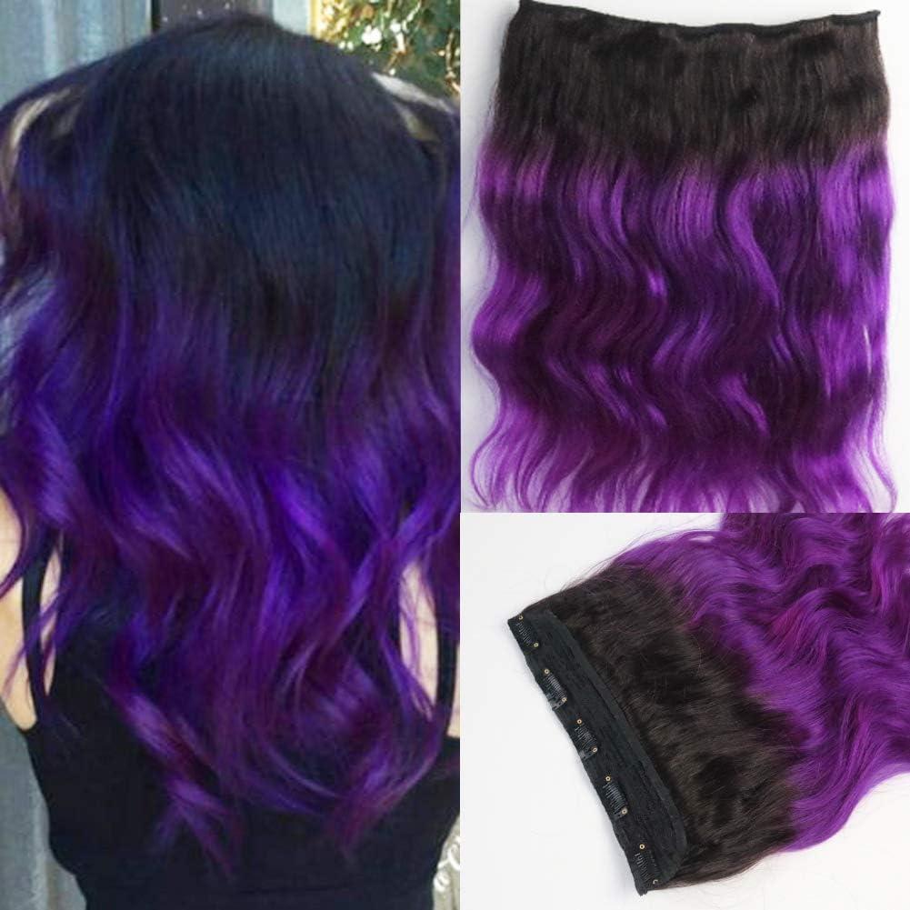 Extensiones de pelo humano ondulado y rizado, color negro ...
