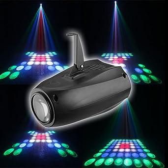 ledmomo luces Disco, sonido activé fiesta luces Strobe Luces DJ ...