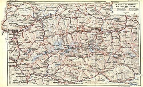 Austria Tirol Du Brenner A Ligne Tauern 1914 Alte Karte Antike