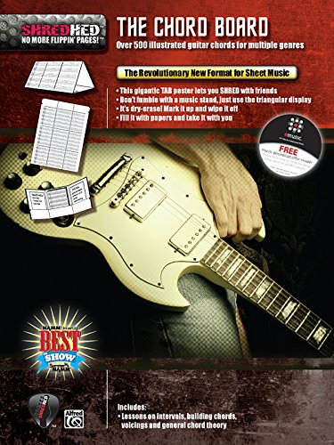 (The Chord Board: Over 500 Illustrated Guitar Chords for Multiple Genres, Poster / Folder / Triangular Display (ShredHed))