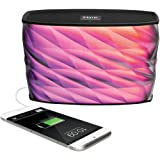 iHome iBT84 Portable Splashproof Color Changing 10 Hour Rechargeable Bluetooth Stereo Speaker with Speakerphone and…
