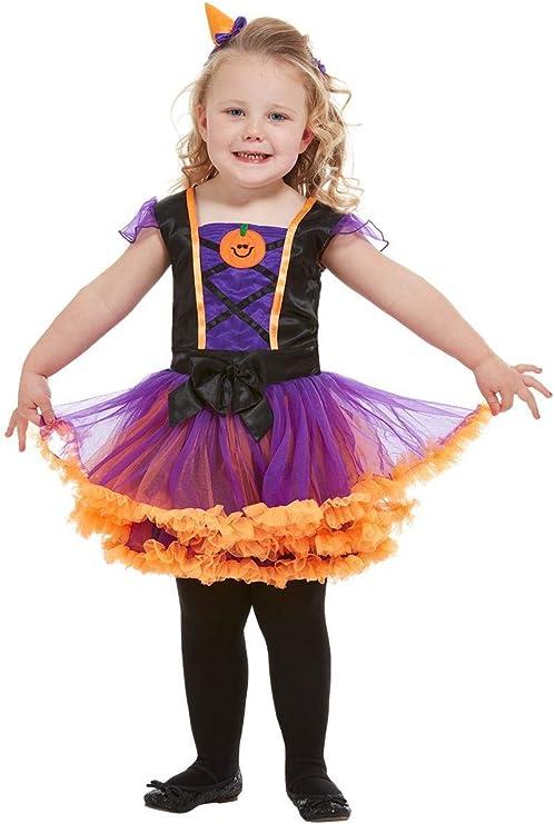 Smiffys 50795T1 Disfraz de bruja de calabaza para niños, niñas ...