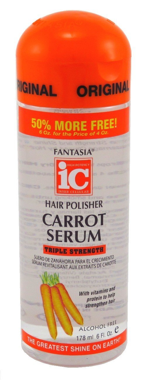 Fantasia Hair Polisher Carrot Serum Triple Strength 6 Ounce (178ml)