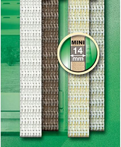 Schellenberg 41104 Sangle de volet roulant pour fen/être Largeur 14 mm Syst/ème Mini 12 m Brun