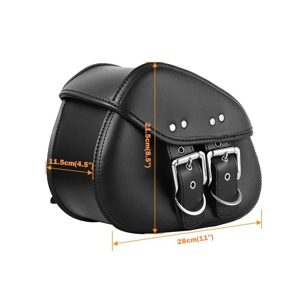Amazon.com: OXMART Bolsas de sillín de color negro, 1 par de ...