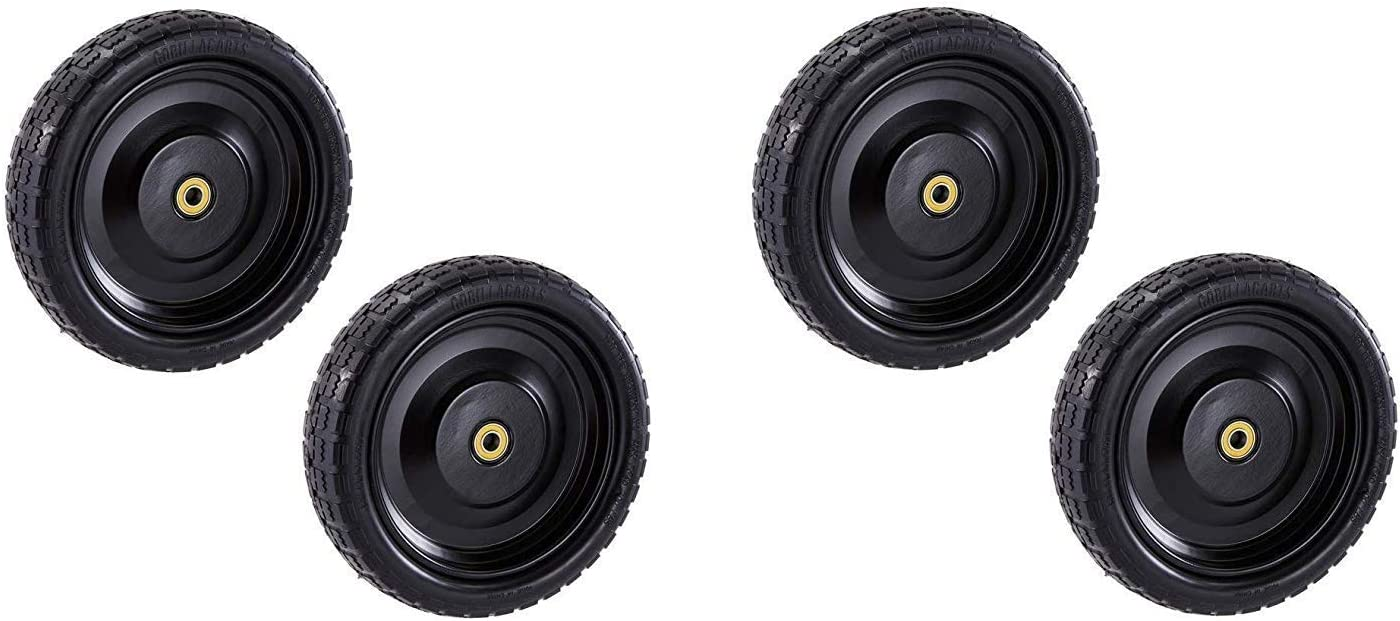 "Gorilla Carts GCT-13NF Replacement Tire, 13"" (2 X Pack of 2)"