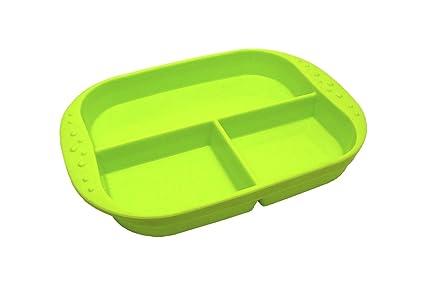 Amazon.com: kinderville silicona Plato con divisiones, Verde ...