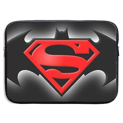 super popular 66876 da407 Amazon.com: Laptop Sleeve Case Bag Cover Superman and Batman Logo ...