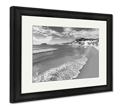 Ashley Framed Prints Moraira Playa El Portet Beach Turquoise Water in Alicante, Wall Art Home