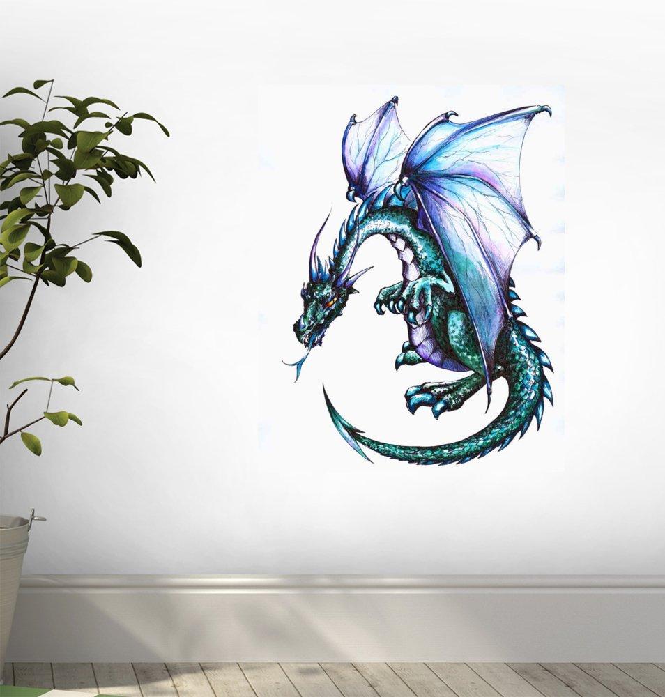 amazon com blue dragon wall decal 12 amazon com blue dragon wall decal 12