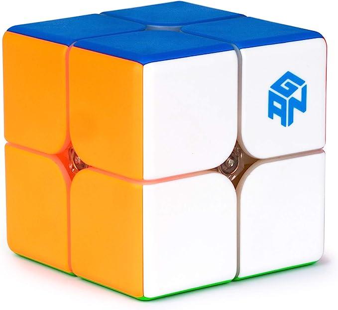 2x2 Magnetic Cube Stickerless Mini Cube Gans251 Lite Version Puzzle Toy for Beginner GAN 251M
