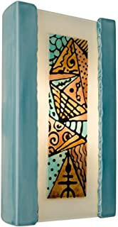 product image for ReFusion Abstract 1 Light Wall Sconce Finish: Teal Crackle and Turquoise